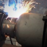 LPG Cylinder Guard Ring Welding Machine